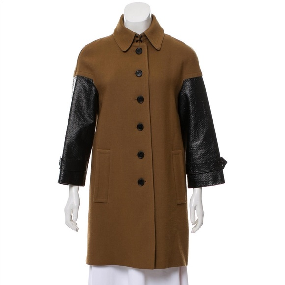 Burberry black and brown wool coat.